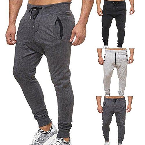 Moda Unita Grigio Degli Pantaloni pantaloni Coulisse Elastico nuovo Elegante 2018 Personalit¨¤ Uomo Di Casual vita Tinta Sciolto Sportivo Uomo Uomini Jogging Sportivi qzqwO1T