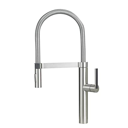 Blanco 441332 Culina Semi Pro Kitchen Faucet Satin Nickel Touch