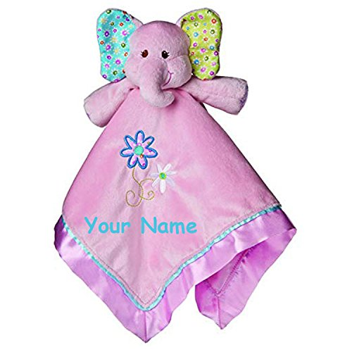 Personalized Snuggle - Mary Meyer Personalized Ella Bell Elephant Character Blanket Snuggle Blanky - 17 Inches