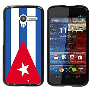 - Flag - - Hard Plastic Protective Aluminum Back Case Skin Cover FOR Motorola Moto X 1ST Gen Queen Pattern