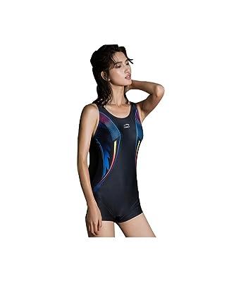 c37378c4433d1a TOFERN Damen Bademode Badeanzug Sport Slim fit bauchweg für Wettkampf  Schwimmen