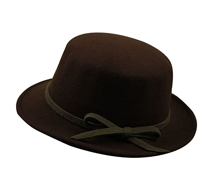 aa179ab4fb12c Image Unavailable. Image not available for. Color  The Trendy Elegant  Bowknot Flat Top Party Hats  Fedora  Coffee