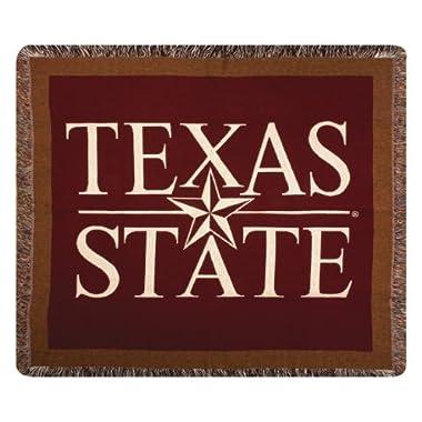 50  x 60  Texas State University NCAA Logo Cotton Afghan Throw Blanket
