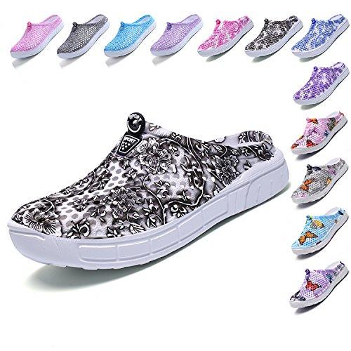 - LIGHFOOT Garden Clog Shoes Beach Footwear Water bash Womens Summer Slippers 163GRAY 40