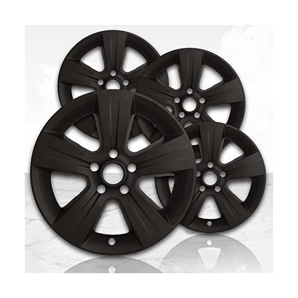 Upgrade-Your-Auto-17-Matte-Black-Wheel-Skins-Set-of-4-for-2011-2017-Jeep-Compass-2380