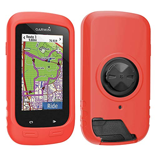 TUSITA Case with Screen Protector for Garmin Edge Explore 1000, Approach G8 - Silicone Protective Cover - GPS Bike Computer Accessories (Red)