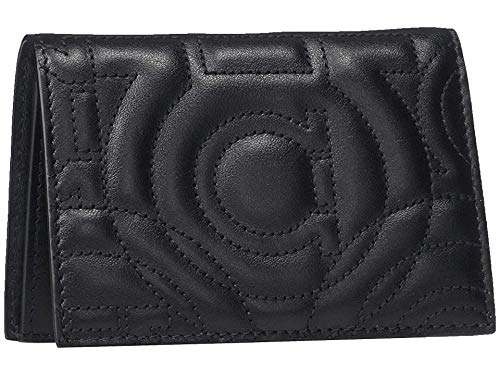 Salvatore Ferragamo Women's Gancino Quilting Card Case, Nero, Black, One Size