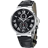 Ulysse Nardin Maxi Marine Chronometer Steel Black Mens Watch 263-67-42