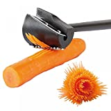TXIN Carrot Curler and Peeler, Black Carrot Spiral Shred Slicer Root Vegetables Fruits Slicer Sharpener Garnishing Tool