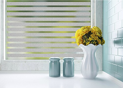 Lifetree 128 Selbstklebend ohne Klebstoff Fensterfolie 2D Statisch Folie Sichtschutzfolie 45*200CM