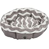 Cheap Petmate Precision Pet SnooZZy Zig Zag Shearling Round Pet Bed for Comfort and Support