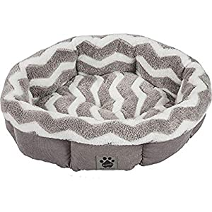 Precision Pet by Petmate SnooZZy Zig Zag Shearling Round Pet Bed for Comfort and Support - 42701 39