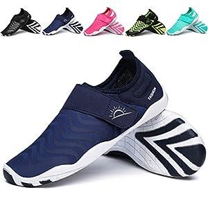 L-RUN Men's Water Shoes Athletic Sport Lightweight Walking Shoes Navy XXXL(M:12-13)=EU 45-46