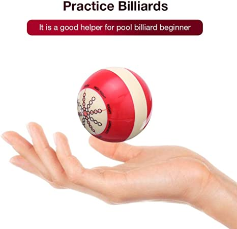 julyso Snooker Practice Ball de Entrenamiento, White Red Cue Ball Practice Billar Pretty: Amazon.es: Deportes y aire libre