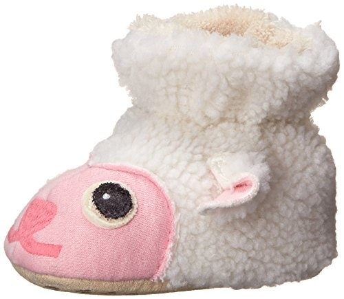 ACORN Easy Critter Kids Bootie Slipper,Lamb,Toddler Medium 6-12 Months