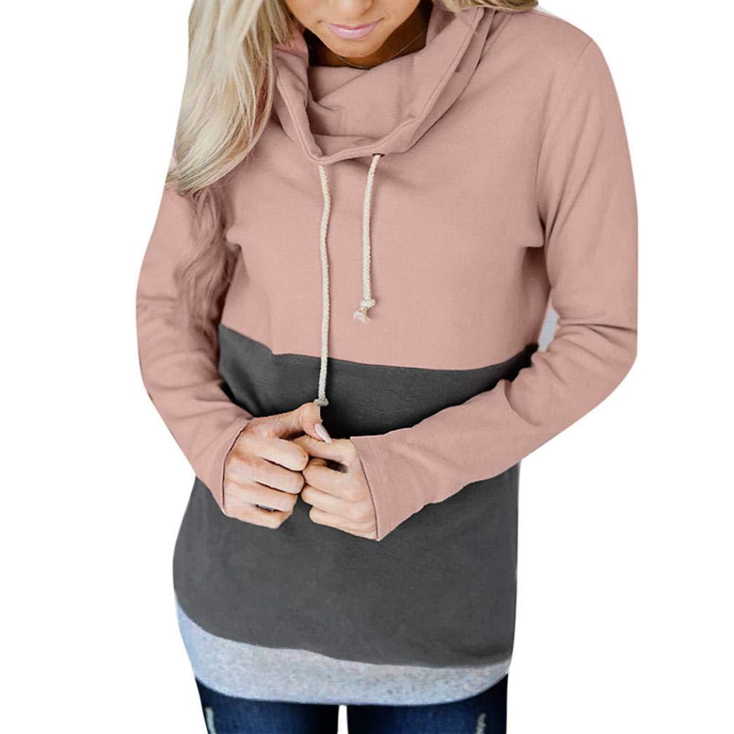 Amazon.com: Women Long Sleeve Color Block Hoodies Sweatshirt Patchwork Bow Neck Jumper Tops Fashion Autumn Blouse Shirt: Clothing