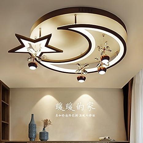 Lámpara de techo sencilla y moderna redonda led luna luz ...