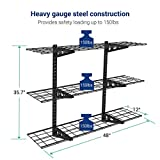 Fleximounts 3-Tier Storage Wall Shelves 1x4ft