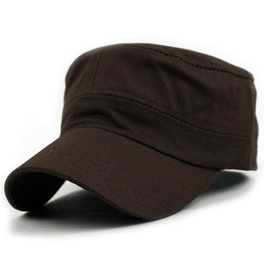 Vin beauty wlgreatsp Men Women Classic Military Cadet Style Caps Hip Hop Flat Hat Flat Hat