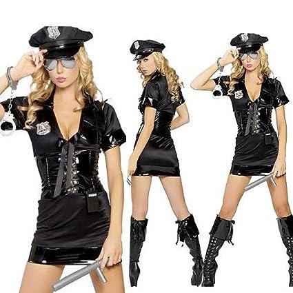 WOMENS DEPUTY COSTUME FEMALE POLICE OFFICER FANCY DRESS
