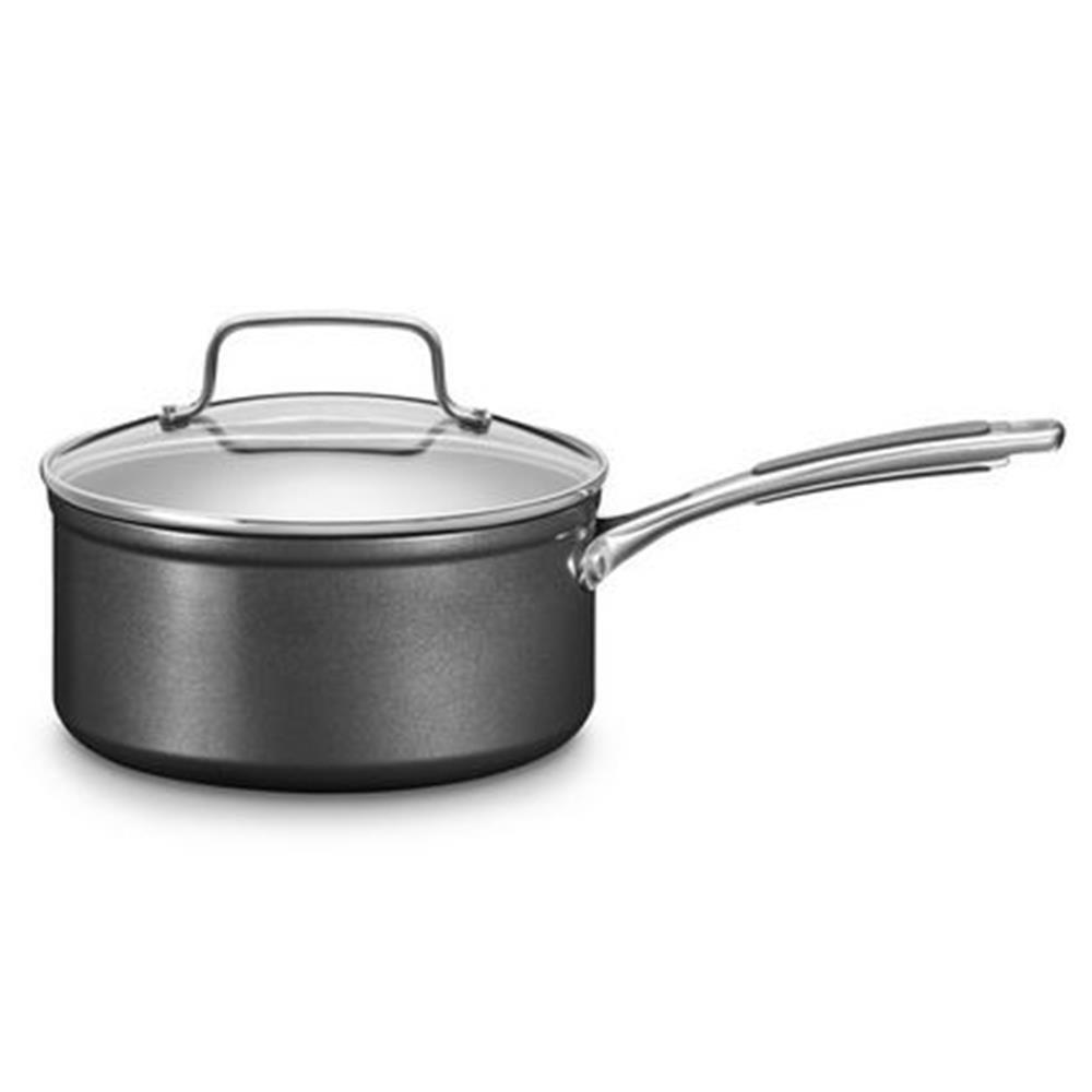 Kitchenaid kc2h130plkd Cacerola, Aluminio, 18 x 18 x 8 cm, Negro/Plata: Amazon.es: Hogar