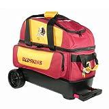 KR Strikeforce Washington Redskins Double Roller Bowling Bag, Multicolor