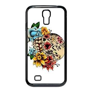 Samsung Galaxy S4 I9500 Phone Case Black Sugar Skull Cover HOD554464