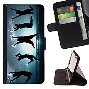 BETTY - FOR LG G3 - Happy Dancing People - Style PU Leather Case Wallet Flip Stand Flap Closure Cover