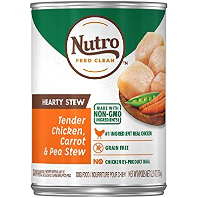 Nutro Cuts in Gravy Tender Chicken, Carrot & Pea Hearty Stew Adult Canned Wet Dog Food