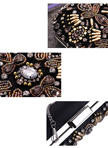 Shoulder New Ms Hand E Bag Bag Dinner Bag Beaded fnwnqvtP