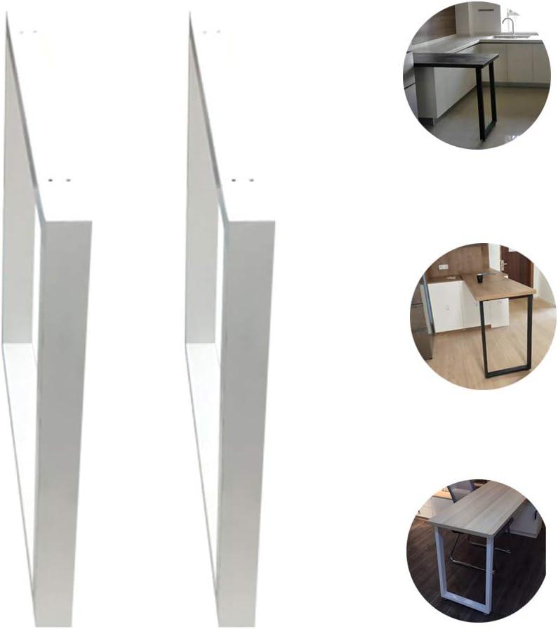 2x錬鉄製テーブル脚テーブルサポートフレームデスクサポート脚コンピュータテーブル脚DIY家具脚バー脚