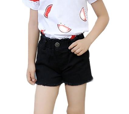 cf39f3d77bc68 子供服 女の子 デニム ショート パンツ キッズ ガールズ ハーフパンツ ショートパンツ ウエストゴム 女児 ジュニア