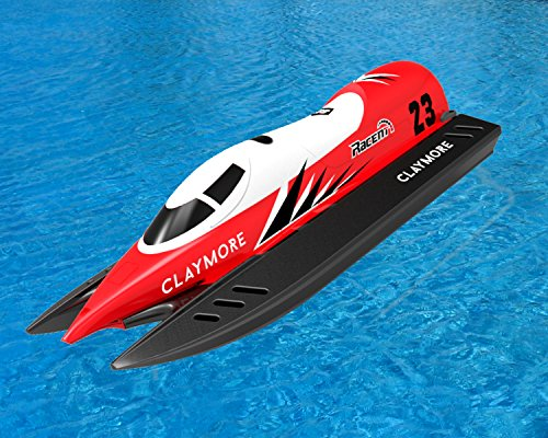 POCO DIVO 2.4Ghz Claymore F1 Champion Boat RC Formula Racing Yacht R/C EP RTR Ship Radio Control 20-mph High Speed Pool Racer