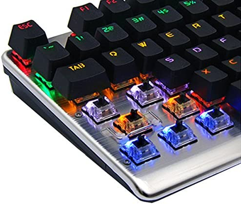 Feicuan Wired USB 104 Keys Mechanical Keyboard Backlight Glowing Game Fingerboard Linear Action