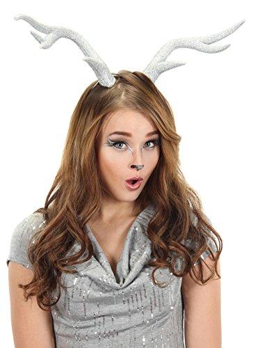 Elope Silver Glitter Deer Antlers -