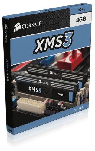Corsair CMX8GX3M2B1333C9 8GB (2 x 4 GB) DDR3 1333 MHz Unbuffered CL9 DIMM Memory Kit for Intel Core i3/i5/i7 Dual Channel (PC3 10600) 1.5V