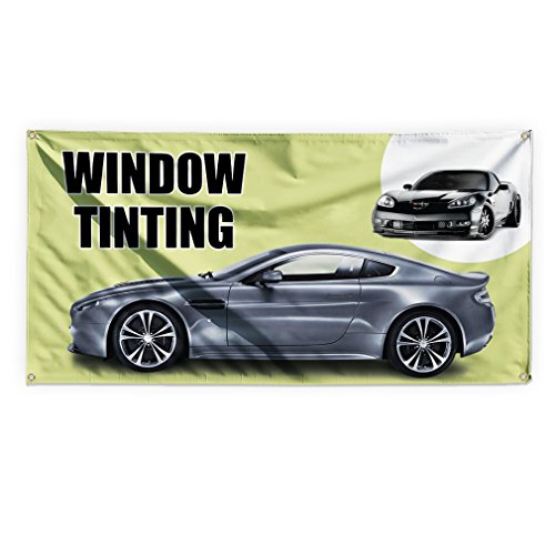 Window Tinting #1 Outdoor Advertising Printing Vinyl Banner Sign With Grommets - 3ftx6ft, 6 Grommets