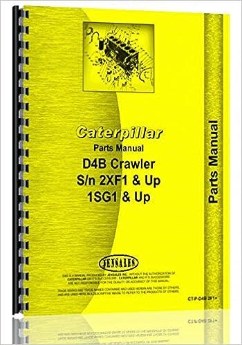 Caterpillar D4B Crawler Parts Manual