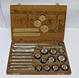Valve Seat & Face Cutter Set / Kit - 12 Pcs Set for Vintage Cars & Bikes in Wooden Case