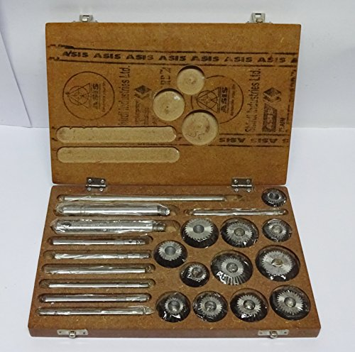 Valve Seat Grinder - Valve Seat & Face Cutter Set / Kit - 12 Pcs Set for Vintage Cars & Bikes in Wooden Case