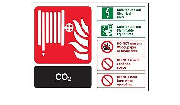 Señal de extintor de incendios, CO2 ID, paisaje, 20 x 25 cm ...