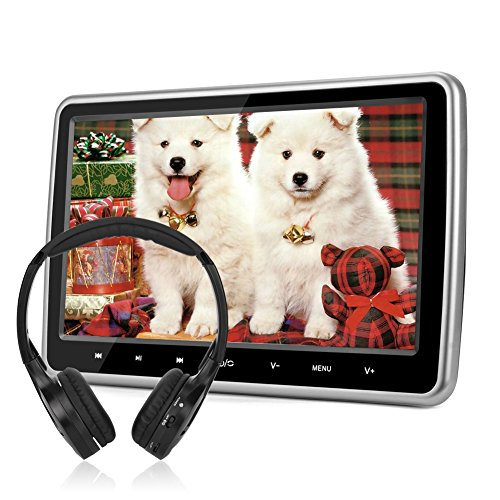 10,1 Kopfstütze Monitor DVD Player NAVISKAUTO DVD Memory Dünn HDMI Funktion USB SD IR Kopfhörer(CH1001B+Y0101S)