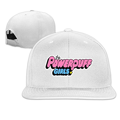 Unisex The Powerpuff Girls Logo Racing Cap - White Ono Yoko Hat