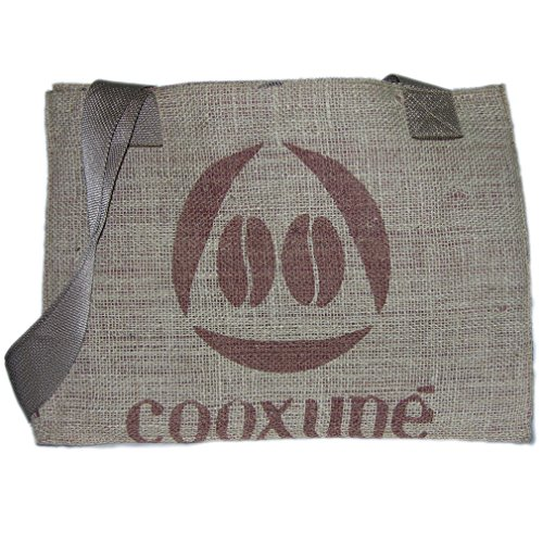 Eco-Friendly, Reusable Upcycled Coffee Bean Burlap All-Purpose Tote/Shopping/Beach Bag With Webbed Handles, Made In The USA, By Sackcloth & Ashes (Bean) (Feed Tote Bag)