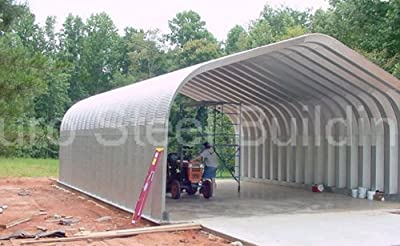 Duro Span Steel G20x20x12 Metal Building Kit Factory Direct New DIY Carport Workshop Shed