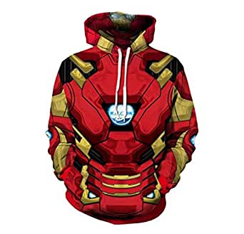 IronManprinting fashion cotton hoodie round collar full sleeves leisure sweatshirt sport hoodie