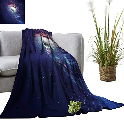 YOYI Soft Blanket Microfiber Universe Scene ts Stars Galaxies in Outer Space Easy Travel 70