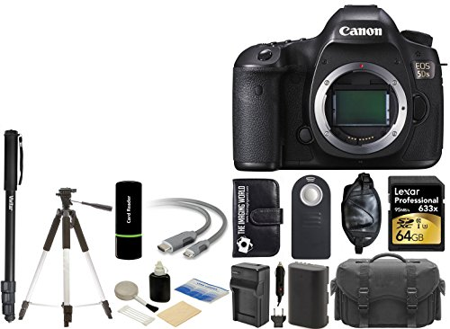 Canon EOS 5DS 50,6 MP Digital SLR Cámara con 3.2-inch LCD y vídeo HD 1080P de fotograma completo + Lexar 64 GB Card +...