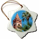 Louis Funny Snowflake Christmas Ornaments USA Florida St Augustine Hotel Ponce De Leon Flagler College Holiday Xmas Tree Hanging Decoration Ornaments - 3 inch