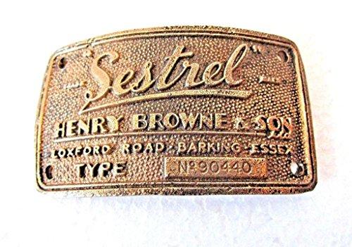 sestrel Marine木製Binnacle真鍮Builder 'sプレート/Plaque – Nautical/ボート/Maritime (5129 )